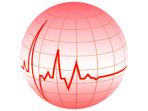 Heart pulse Stock Photo