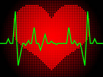 Heart pulse royalty free illustration