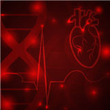 Heart pulse banner Royalty Free Stock Image