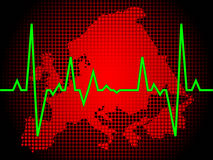 Heart pulse of europe royalty free illustration