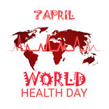 Heart Pulse Health World Day Global Holiday Banner With Copy Space Royalty Free Stock Image