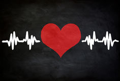 Heart pulse. Healthcare chalkboard concept Royalty Free Stock Images