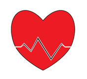 Heart pulse, heartbeat icon vector isolated white background. Royalty Free Stock Image
