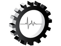 Heart pulse icon stock illustration