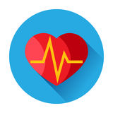 Heart pulse icon Royalty Free Stock Photo