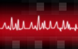 Heart pulse illustration Royalty Free Stock Photography