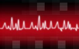 Heart pulse illustration Royalty Free Stock Photography