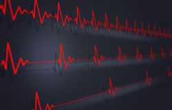 Heart Pulse Illustration Stock Photos
