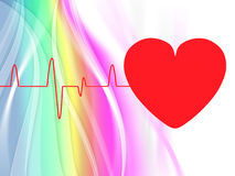 Heart Pulse Means Empty Space And Cardiogram Royalty Free Stock Image