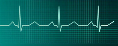 Heart pulse monitor Stock Images