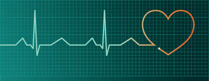 Heart pulse monitor Royalty Free Stock Image