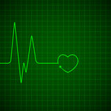 Heart pulse monitor Stock Image