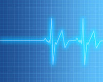 Heart or pulse rate screen Stock Images