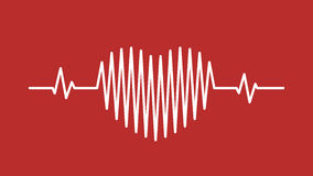Heart pulse sound wave icon Royalty Free Stock Photos
