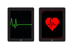 Heart Pulse Template for mobile app and website design Stock Photography