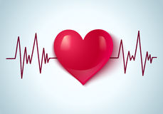 Heart and pulse Royalty Free Stock Photo