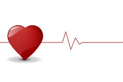 Heart Pulse, Vector File. Stock Image