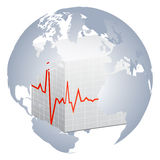 Heart pulse of world Stock Images