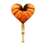 Heart with pumpkin texture Royalty Free Stock Image