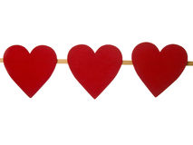Heart on pure white background Royalty Free Stock Image