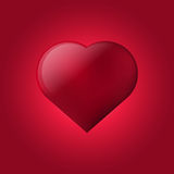 Heart. Purple heart with hotspot on purple background Stock Image