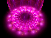 The heart of purple mandala Royalty Free Stock Photo