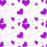 Heart purple pattern Royalty Free Stock Photo
