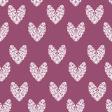 Heart purple white pattern Royalty Free Stock Images