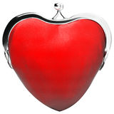Heart purse, love. Money, purse in the shape of heart Royalty Free Stock Images