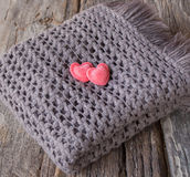 Heart put on a scarf. Stock Photography