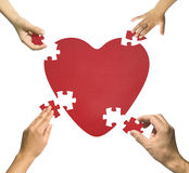 Heart puzzle. Family together-Happy family concept vector illustration