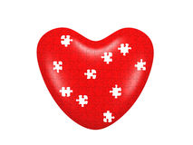 Heart puzzle. Isolated on white backgground Stock Photo