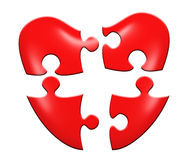 Heart puzzle. Isolated on white backgground Royalty Free Stock Photography