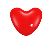 Heart puzzle. Isolated on white backgground Royalty Free Stock Images