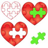 Heart Puzzle Stock Photography