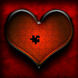 Heart Puzzle. This is a beautifully ps illustration of a heart with a small void in it royalty free illustration