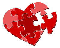 Heart puzzle. Valentine's heart puzzle. Vector illustration royalty free illustration
