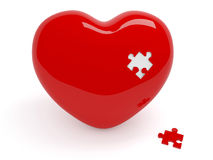 Heart and puzzle Royalty Free Stock Photos