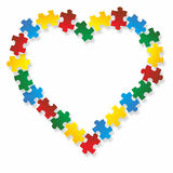 Heart puzzle Royalty Free Stock Photography