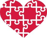 Heart of puzzle pieces. Love vector Stock Photos