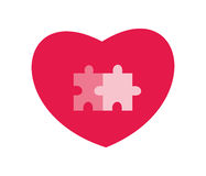 Heart and puzzles. Editable and scalable vector illustration Stock Photos
