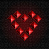 Heart Pyramids Royalty Free Stock Images