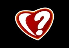 Heart in question Royalty Free Stock Image