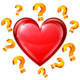 Heart and Question Signs Royalty Free Stock Photos