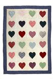 Heart quilt blanket Royalty Free Stock Image