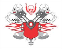 Heart of the racer royalty free illustration