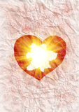 Heart radiating light Royalty Free Stock Images
