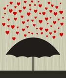 Heart rain Royalty Free Stock Image