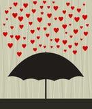 Heart rain Royalty Free Stock Image