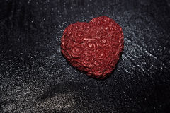 Heart in rain Royalty Free Stock Photography